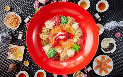 [CNY] Blessings Reunion Chinese New Year Meal with Salmon and Abalone Yee Sang for 10 People