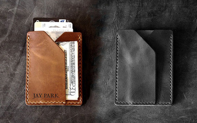 120-Minute Monaco Leather Slim Card Holder Crafting Workshop for 1 Person