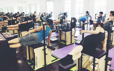60-Mins Chair Pilates for Weight Loss / Body Aches for 2 People (4 Classes)