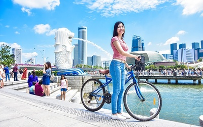 1-Hour Bicycle Rental at Marina Bay for 1 Person