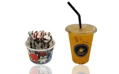 Times Square: Vanilla Fry Ice Cream and Passion Fruit Cold Drink Combo for 1 Person