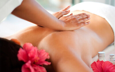 Creambath+Back Massage+Blow Natural