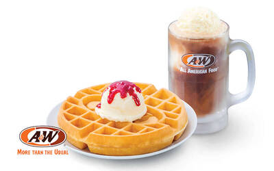 A&W: Waffle with Ice Cream and RB Float for 1 Person