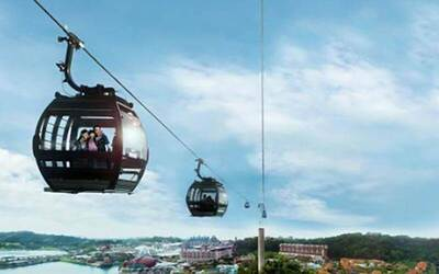 Return Cable Car Ride with Set Lunch or Buffet Dinner for 1 Adult