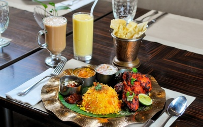 5-Course North Indian Lunch Set with Roasted Tandoori Chicken for 1 Person