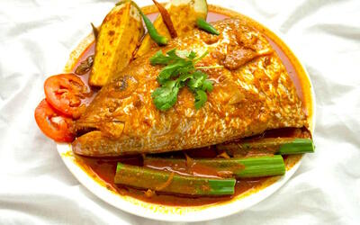 5-Course Curry Fish Head Set for 2 People