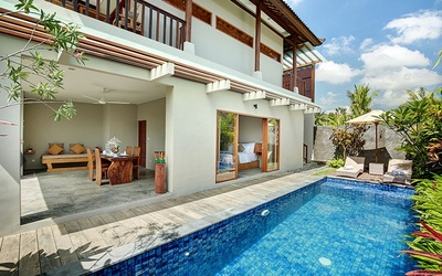 Ubud, Bali: 5D4N Stay in 2-Bedroom Pool Villa with Breakfast for 4 People