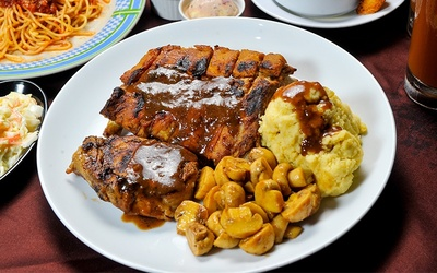 Ribs and Pork Chop Platter for 2 People