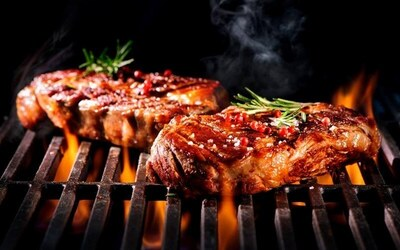 Sirloin Steak, Salmon, OR Duck Confit Meal with Drinks for 2 People