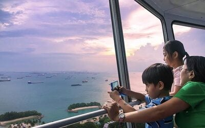 1-Day Unlimited Admission to Sentosa 4D AdventureLand + Tiger Sky Tower for 2 People