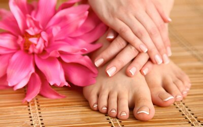 Classic Mani-Pedi with Half Arm / Half Leg Waxing for 1 Person