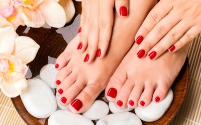Manicure/Pedicure + Glitter Nail Polish