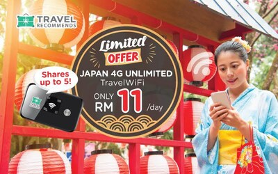 4G Unlimited Travel WiFi for Japan