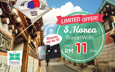 4G Unlimited Travel WiFi for South Korea