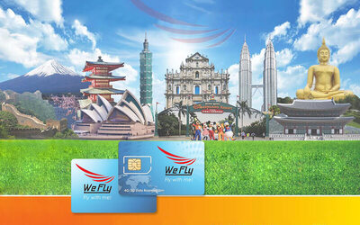 APAC: 10-Day 4G/3G Unlimited Data Roaming SIM Card for 9 Countries + Mail Delivery