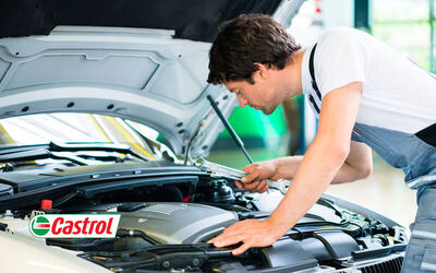 Castrol Semi Synthetic Oil Car Auto Servicing Package for 1 Car