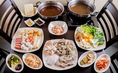All-Day Korean Seafood Shabu Shabu Buffet with Refillable Green Tea for 1 Person