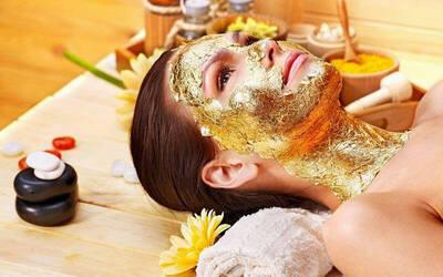 Facial Pure Gold/Whitening + Face Massage + Masker