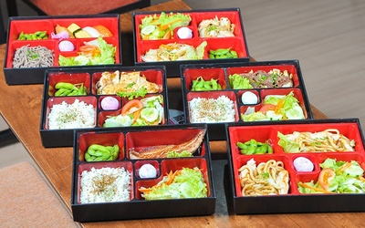 Teppanyaki or Bento Lunch with Miso Soup + Free-Flow Green Tea for 1 Person