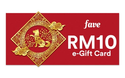 Angpao: RM10 e-Gift Card for Any Fave Deal or FavePay Purchase