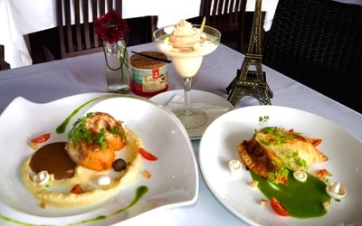 2-Course French Lunch Set with Ice Lemon Tea for 1 Person