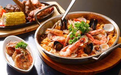 Viva La Vida Spanish Buffet with Free Flow Alcoholic Drinks for 6 People