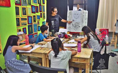 2-Hour Basic Fine Art Class For 2 Kids (1 Session)