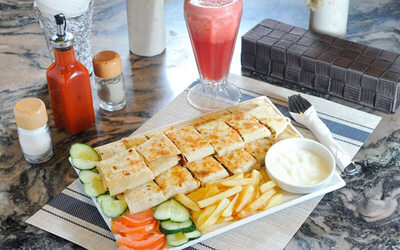 Chicken Shawarma Set with Drinks for 2 People