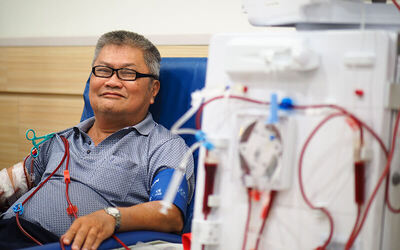 Donate $100 to benefit a patient with an Artificial Kidney (A.K.) to filter wastes and excess fluids for 1 month