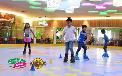 (Sat-Sun) Combo Entry to Jungle Gym and Roller Sports World for 1 Child