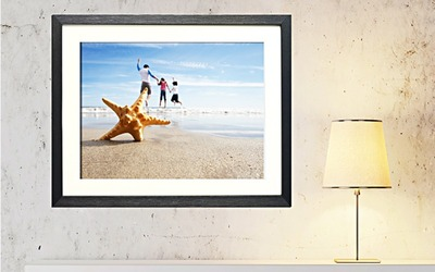12R Single Mounted Frame (Included Photo Print)