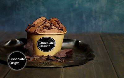 2 Cups of Single-Scoop Dark Chocolate Gelato