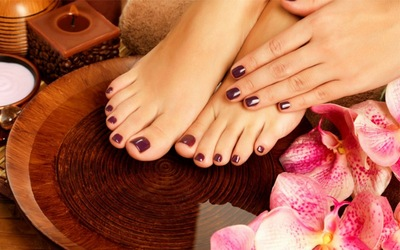 Gel Manicure + Classic Pedicure + Half Leg Scrub for 1 Person (Existing Customers Only)
